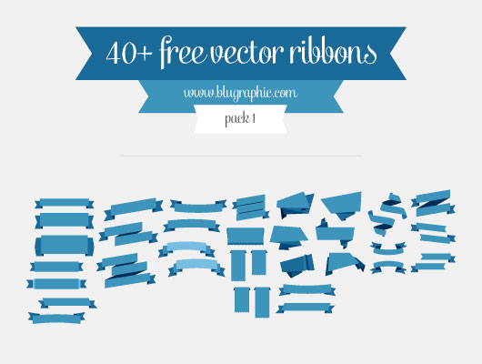 40+ Vector Ribbons (Ai, Eps)