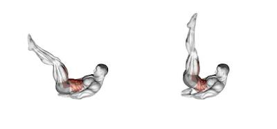 Abs Exercises - Lying leg raise