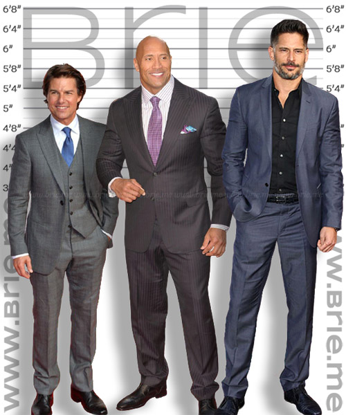 Joe Manganiello height comparison with Tom Cruise and The Rock