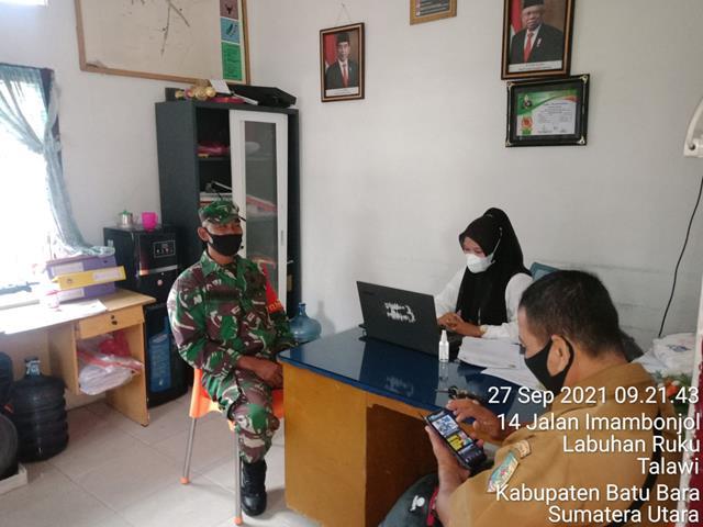 Komunikasi Sosial Dengan Aparatur Pemerintahan Kelurahan Dilaksanakan Personel Jajaran Kodim 0208/Asahan
