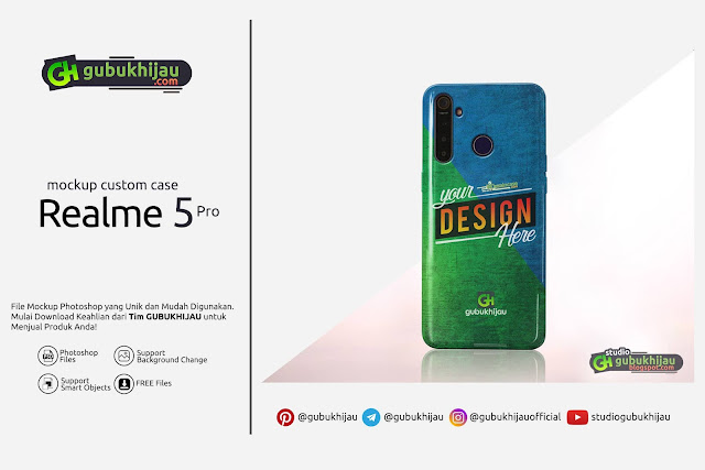 Mockup Custom Case Realme 5 Pro by gubukhijau
