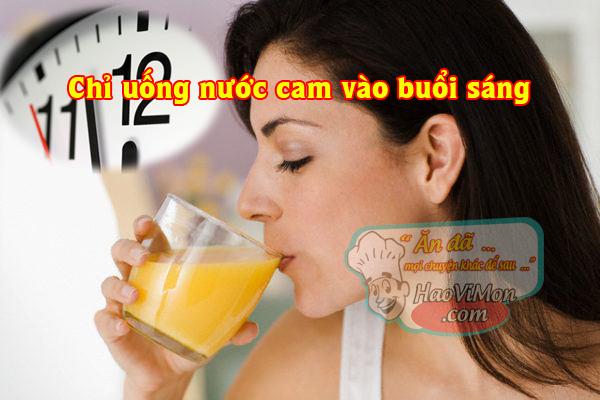 Thời điểm uống nước cam tốt nhất trong ngày cho bà bầu