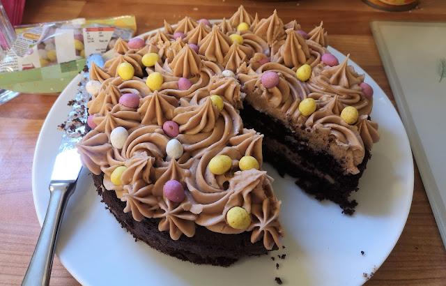 Easter choclooate cake