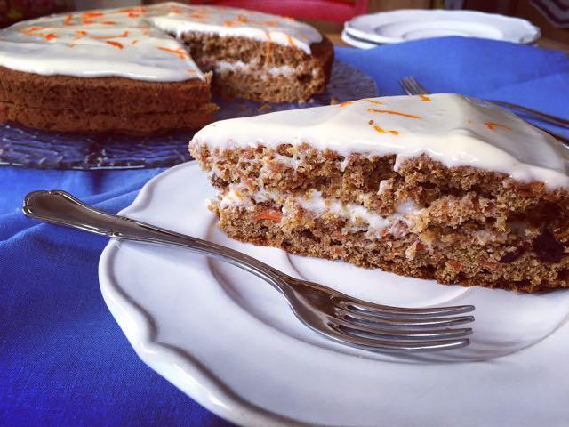 receta tarta de zanahoria de Jamie Oliver