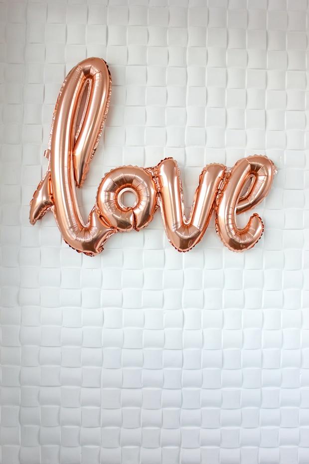 Balão escrito love, love baloon, balão love, balão romântico, rosegal, balão rose gold