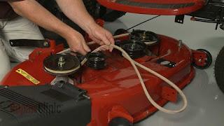 craftsman riding mower deck installation