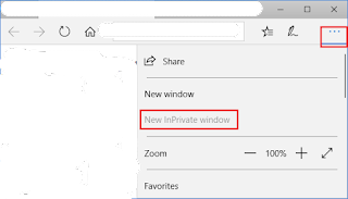 Incognito Mode in Microsoft Edge