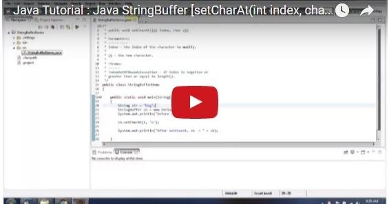 Java ee java tutorial java stringbuffer setcharat int for Pool design pattern java
