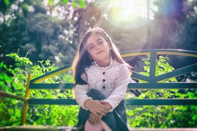 Beautiful Girl Bench Blur Dress HD Copyright Free Image