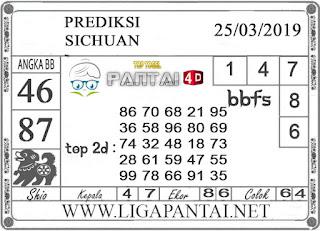 """Prediksi Togel """"SICHUAN"""" PANTAI4D 25 MARET 2019"""