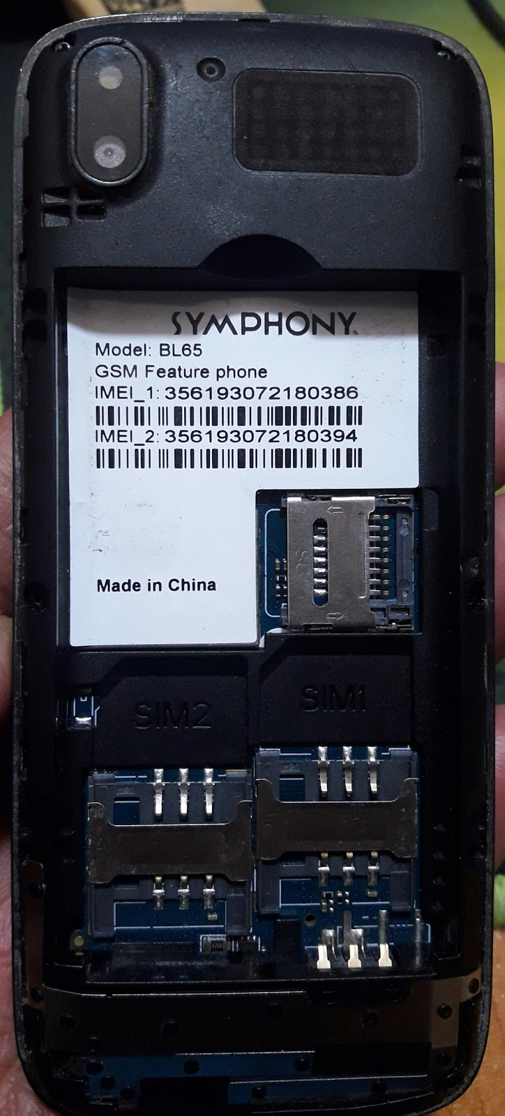 Symphony BL65 Flash File Free Download Without Password - Mobile