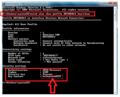 How to find saved wifi password using cmd (Command Prompt)