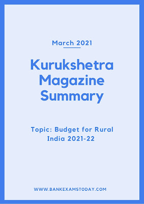 Kurukshetra Magazine Summary: March 2021