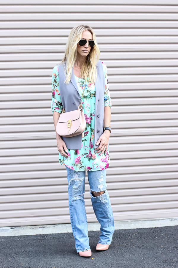 parlor girl street style wearing a dress over denim