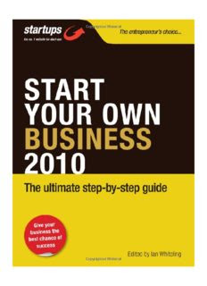 Start Your Own Business 2010: How to Plan, Fund and Run a Successful Business in pdf
