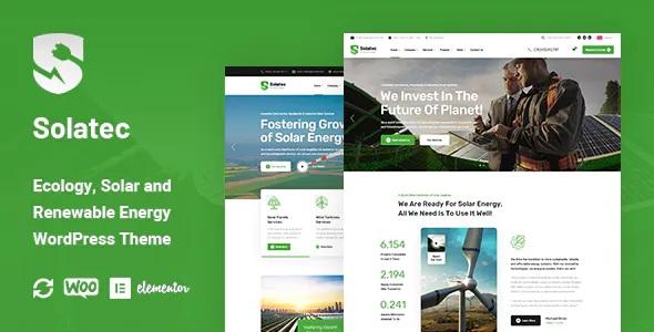 Best Ecology and Solar Energy WordPress Theme