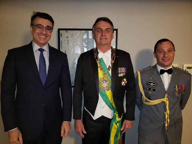 Jair Bolsonaro no Japão, foto do twitter