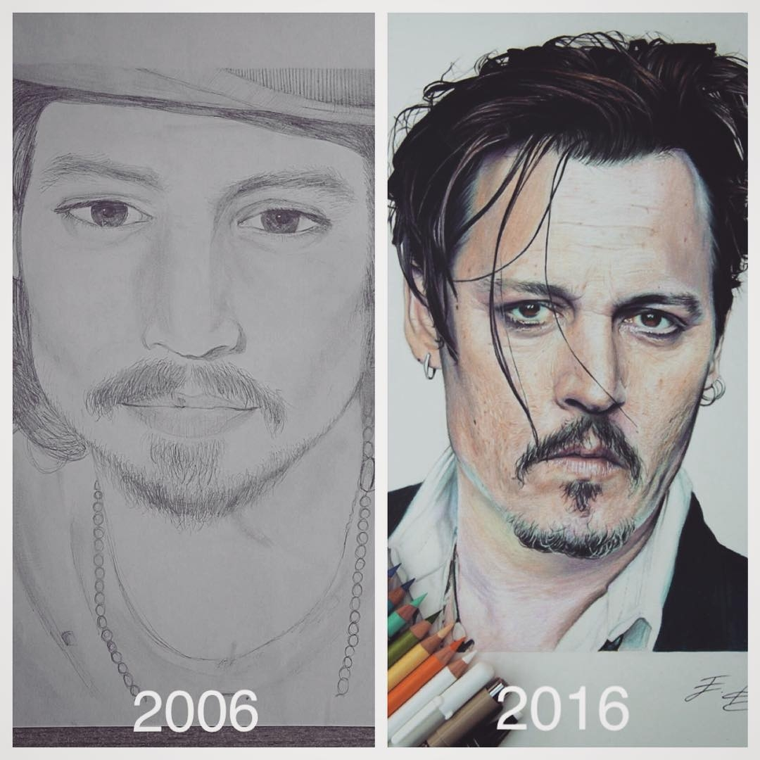 02-Johnny-Depp-10-Years-Emre-Aydin-Celebrity-Pencil-Drawings-in-Movies-and-TV-www-designstack-co