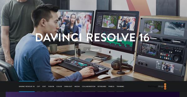 Davinvi Resolve 16 software
