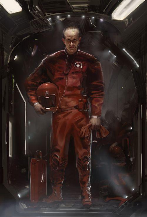 MIhail Spil-Haufter artstation arte ilustrações fantasia ficção científica sombria