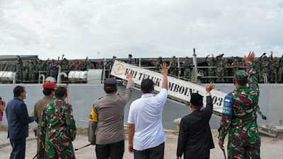 Gubernur NTB Lepas 400 Prajurit TNI Pengamanan RI-Timor-Leste