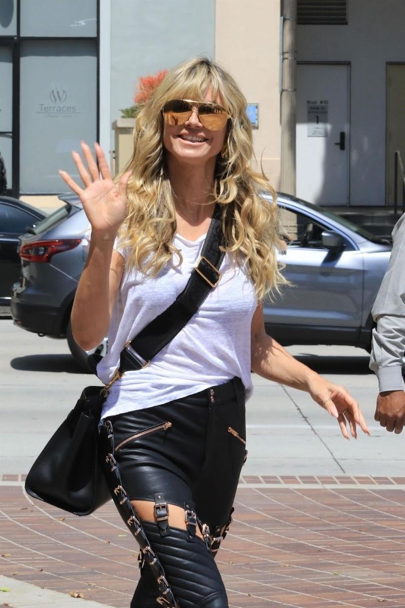 Heidi Klum Spotted at America's Got Talent in Los Angeles 16 Apr-2021