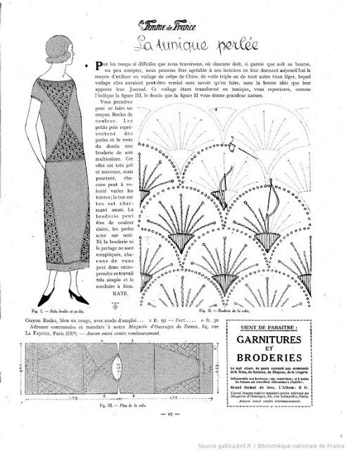 original 1920s 20s embroidery pattern