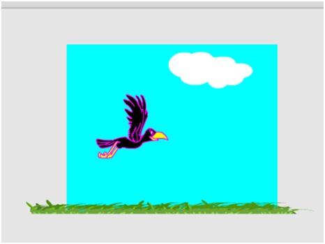 Cara Membuat Animasi Rumput Bergoyang Dan Burung Terbang Dengan