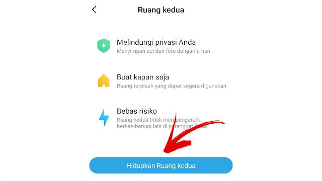 Cara menyembunyikan aplikasi di HP Xiaomi Ruang Kedua