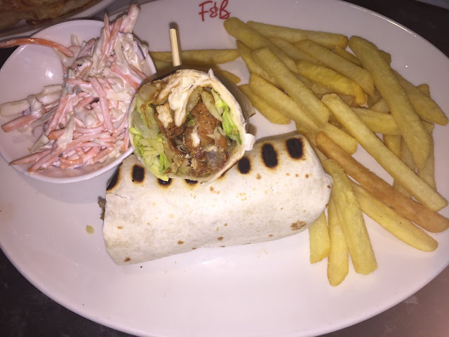 Frankie and Benny's BBQ Chicken Wrap