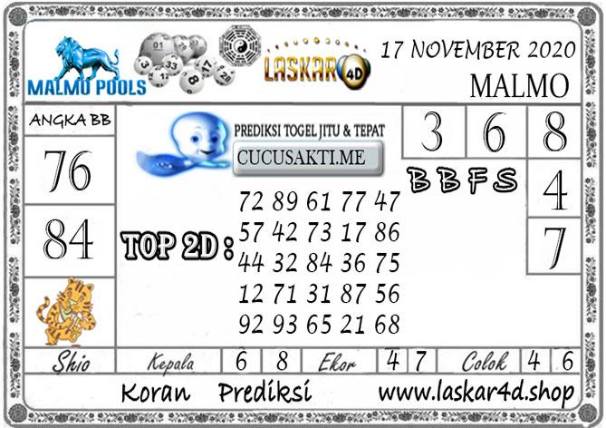 Prediksi Togel MALMO LASKAR4D 17 NOVEMBER 2020