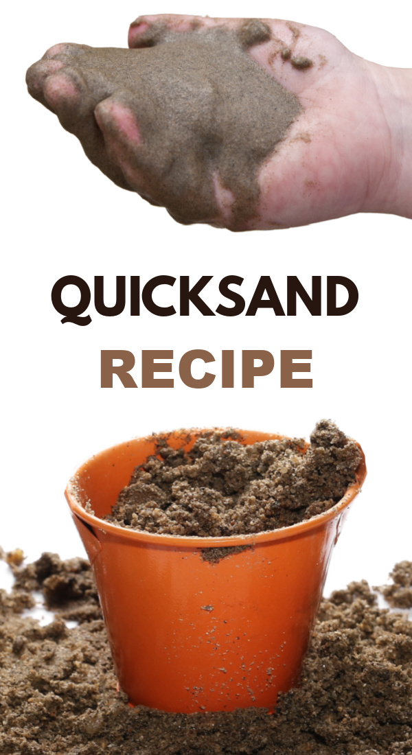 Make your own quicksand using this easy recipe for kids! #quicksand #quicksandrecipe #sandrecipe #sandforkids #growingajeweledrose