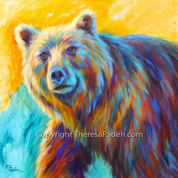 Daily Painters Abstract Colorful Wildlife Paintings Theresa Paden