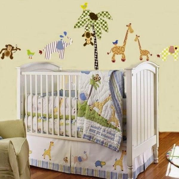 Habitaciones tema la selva dormitorios colores y estilos for Pegatinas dormitorio bebe