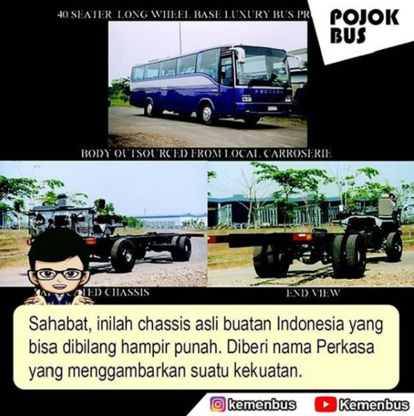 Bus Perkasa buatan asli Indonesia