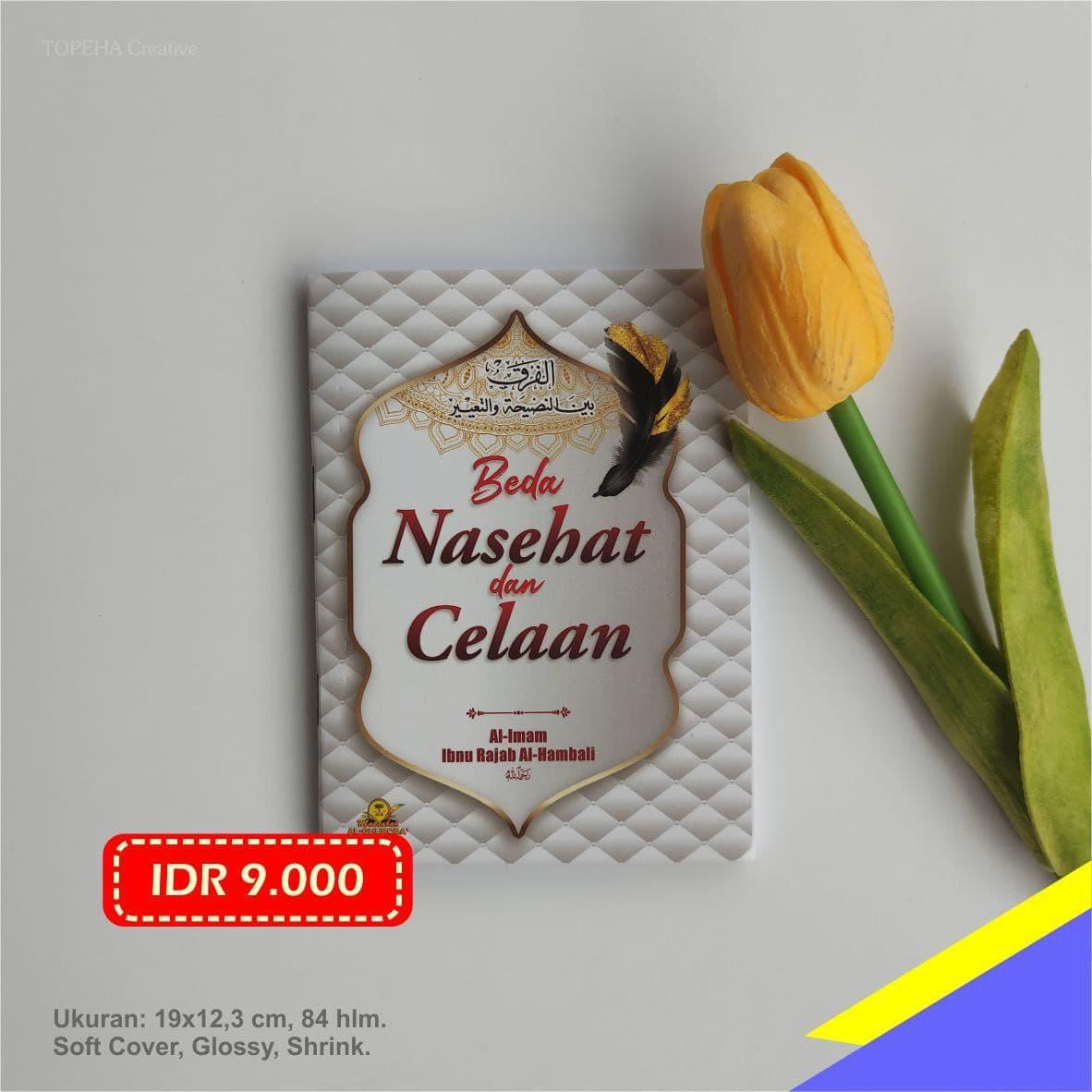 Buku Beda Nasehat dan Celaan Maktabah Al Ghuroba