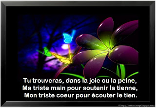 Citation d'amour sur photo