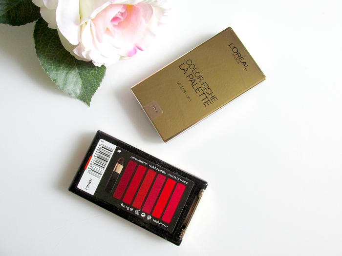 verpackung L´Oréal Color Riche La Palette Lips - Nude & Red