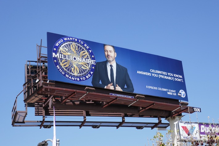 Who Wants Be Millionaire Jimmy Kimmel billboard