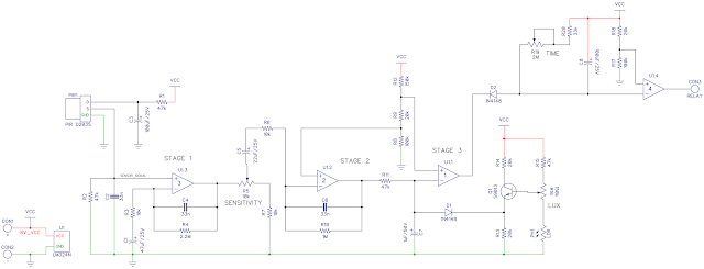 Outdoor PIR sensor board schematic