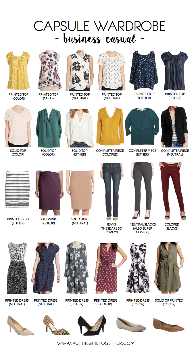 Business Casual Capsule Wardrobe