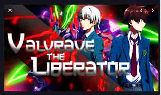valvrave robot in anime with red and green action mecha robot