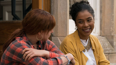 "Susannah (Sophie Okonedo) employs Rose-Lynn (Jessie Buckley) as a housecleaner so she can save up money to travel to Nashville in the 2019 film ""Wild Rose."""