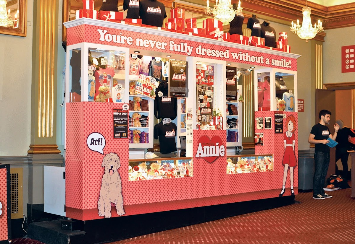 Picture of the in-show store at Annie the Musical