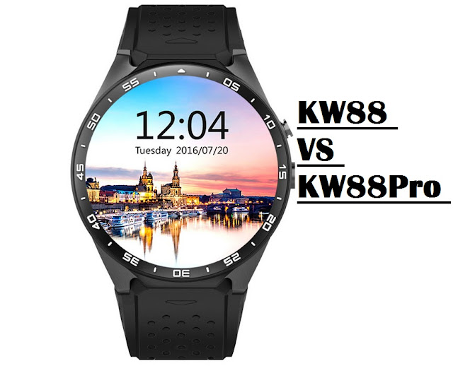 KingWear KW88 VS KW88 Pro Smartwatch