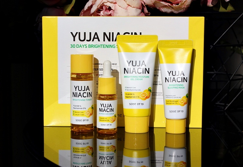 Набор миниатюр для осветления кожи Some By Mi, Yuja Niacin 30 Days Brightening Starter Kit / обзор, отзывы
