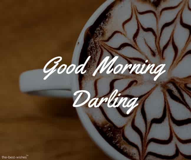 good morning darling coffee images