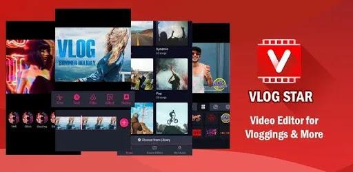 Vlog Star أفضل محرر فيديو مع الموسيقى والانتقالات ، من السهل إنشاء عرض شرائح فيديو / صور وموسيقى رائعة