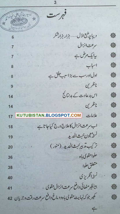 contents of Surat e Anzal Urdu book
