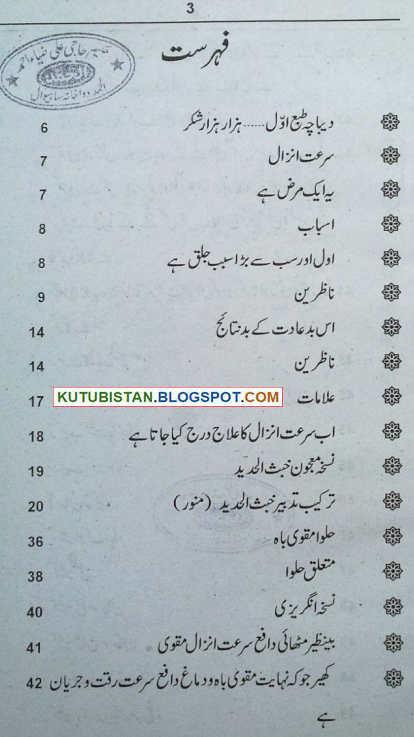 contents of Surat e Anzal Urdu book